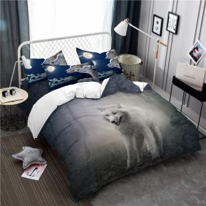 Moonlight Wolf série broderie trois ou quatrepièces Beddings Set AS19 -