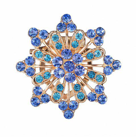 Buy Women Girls Diamond Blue Flower Brooch Fine Jewelry Gifts