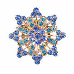 Women Girls Diamond Blue Flower Brooch Fine Jewelry Gifts -