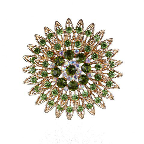 Женские девочки Crystal Flower Brooch Fine Jewelry Gifts