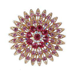 Women Girls Crystal Flower Brooch Fine Jewelry Gifts -