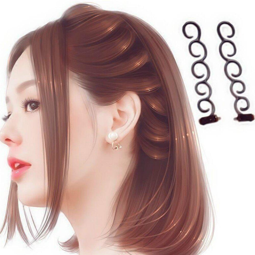 Outfits 2Pcs/Set Hair Braiding Tool Hair  Braider with Hook Hair Edge Twist Curler Styling Tool