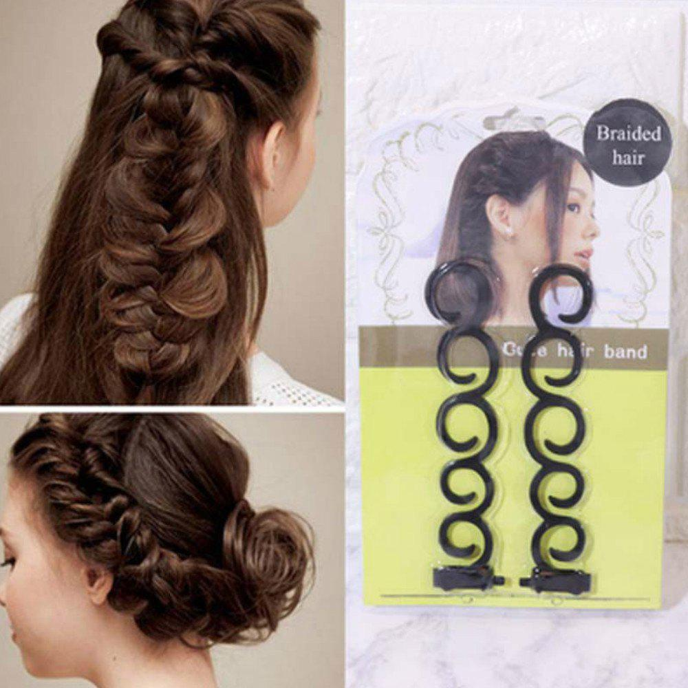 New 2Pcs/Set Hair Braiding Tool Hair  Braider with Hook Hair Edge Twist Curler Styling Tool