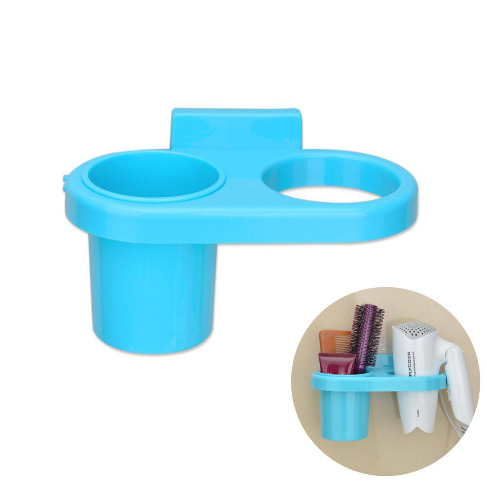 Hot Bath Tool Carrier Strong Suction Dish On-Wall Storage Box Hairdryer Holder