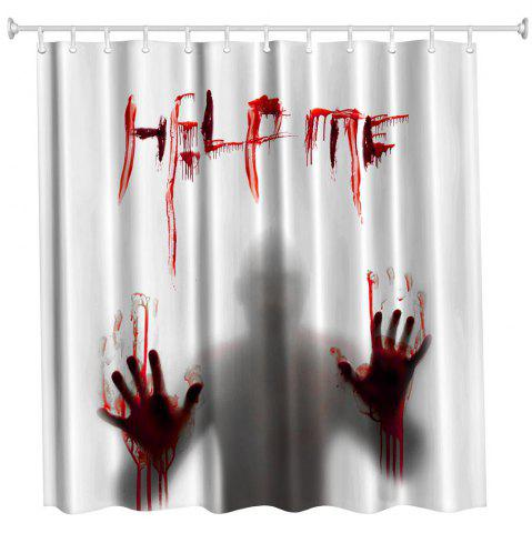 Store Help Me Polyester Shower Curtain Bathroom  High Definition 3D Printing Water-Proof