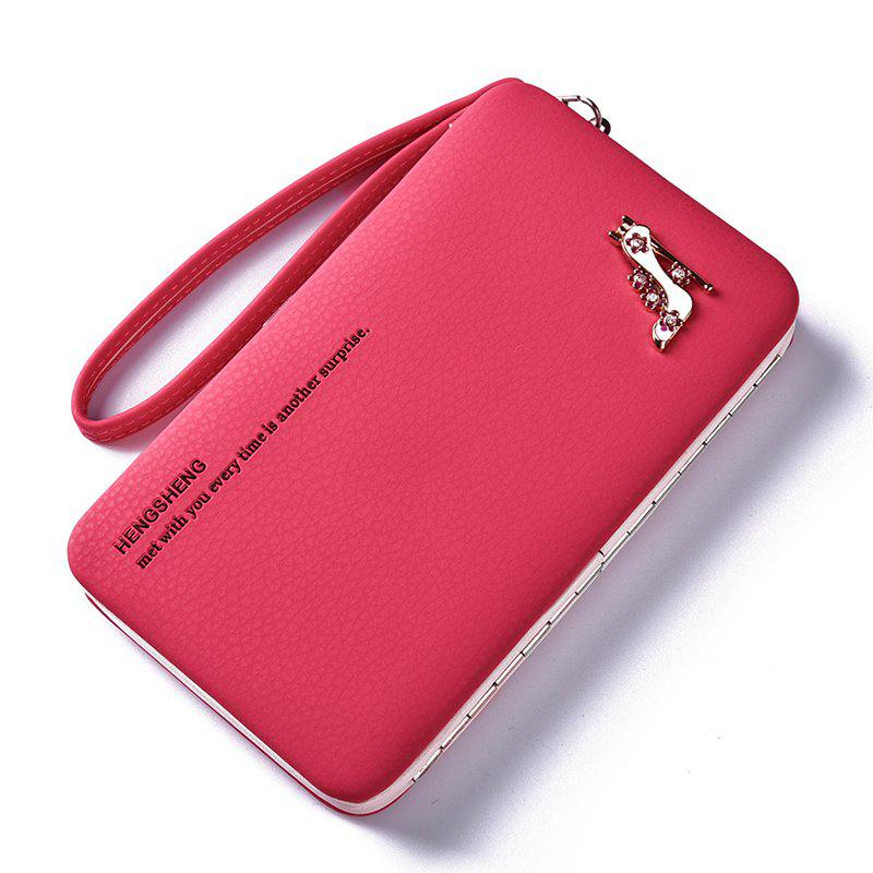 Affordable Female Wallet Long Pencil Case Clutch Bag Student Lunch Box Creative Models Mobile Phone Package