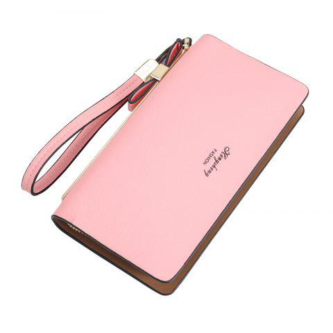 New Women's Wallet New Clutch Bag Long Zipper Soft Leather Bow Folder Phone