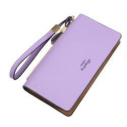 Women's Wallet New Clutch Bag Long Zipper Soft Leather Bow Folder Phone -
