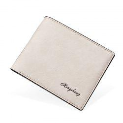 New Men's Short Wallet Purse Fashion Matte Leather -