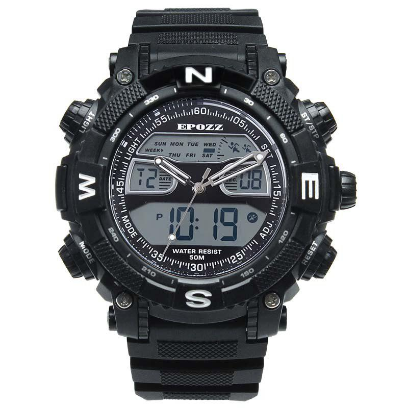 Latest EPOZZ 2801 Men Sports Analog Digital Waterproof Watch