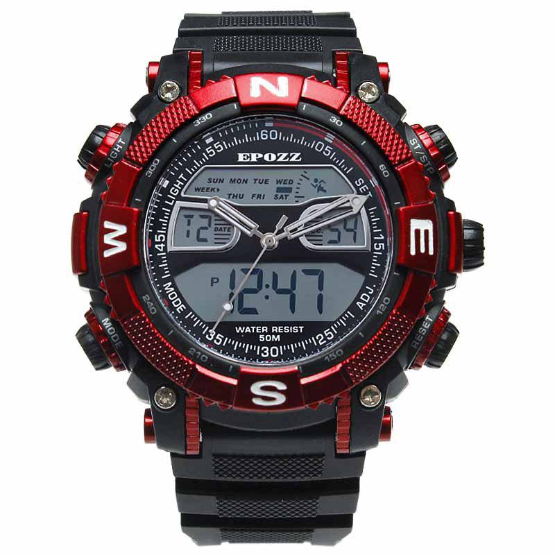 Sale EPOZZ 2801 Men Sports Analog Digital Waterproof Watch