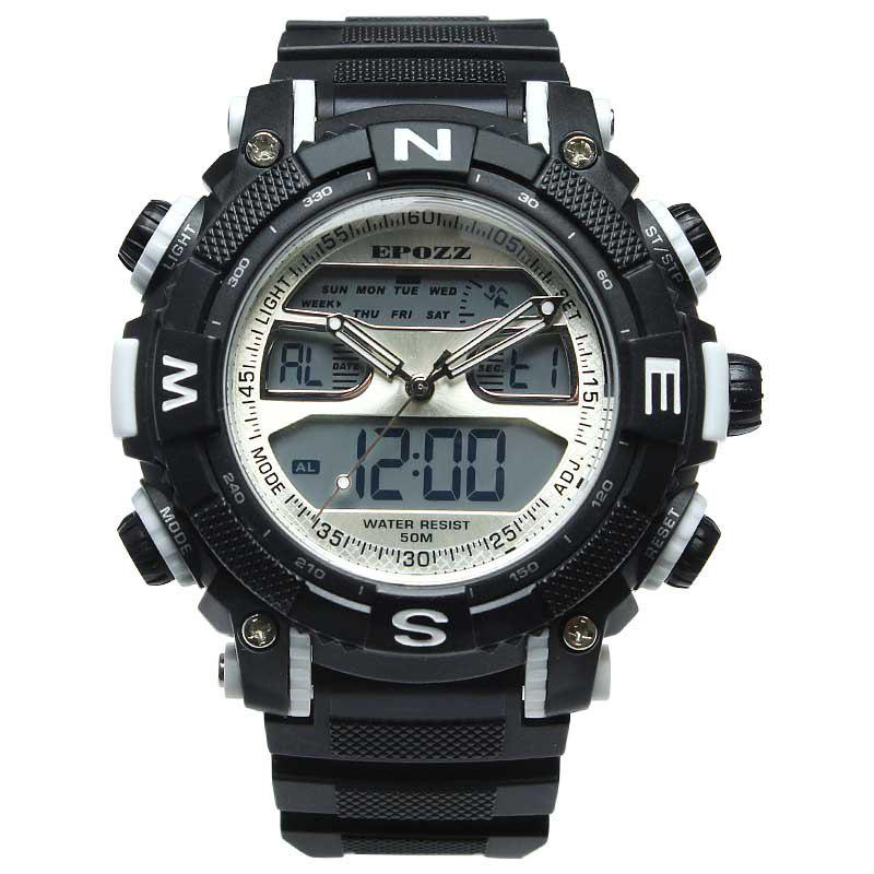 Trendy EPOZZ 2801 Men Sports Analog Digital Waterproof Watch