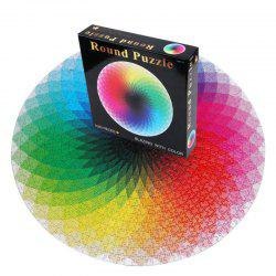 135CM Diameter New Paper Jigsaw Puzzle Rainbow Toy for Adults Releasing Stress 1000PCS -