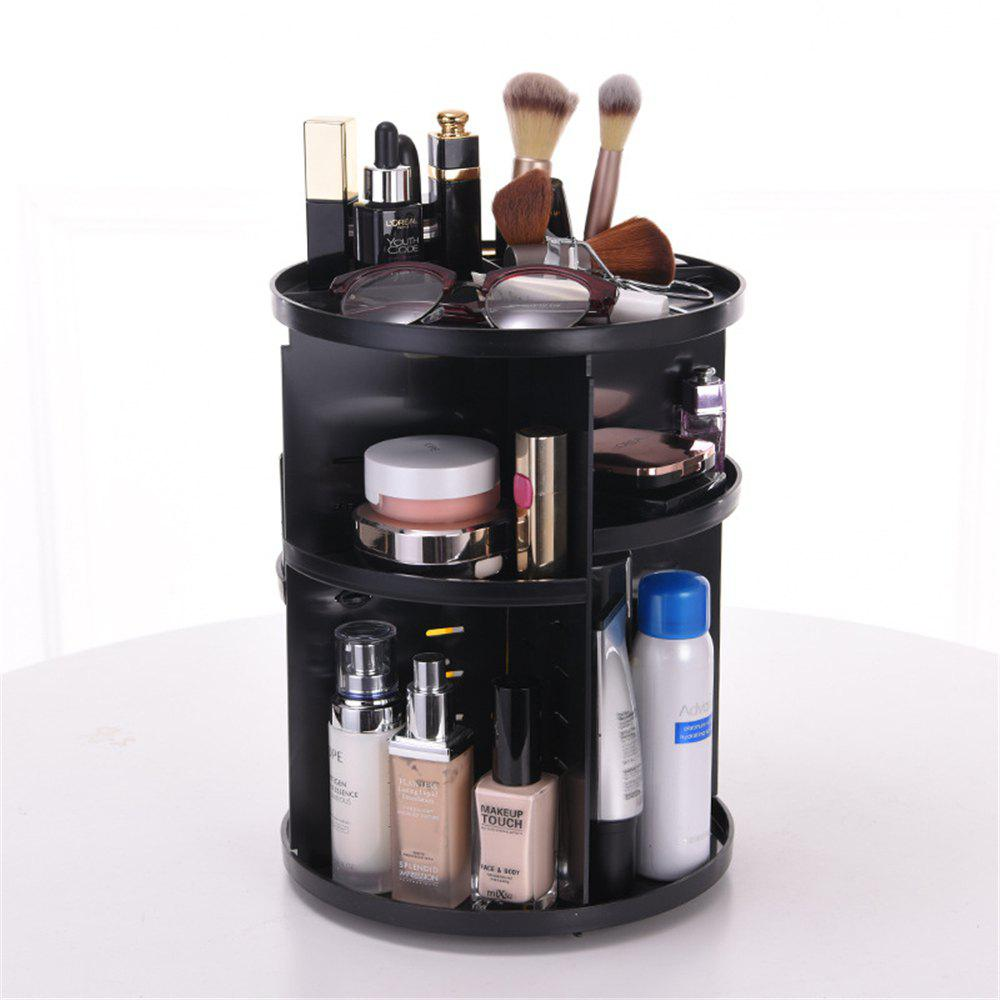 Discount Plastic Makeup Cosmetic Organizer 360 Degree Rotation Lipstick Holder Adjustable Storage Box