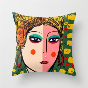 Abstract Painting Bed Pillowcase Sofa Cushion Set -