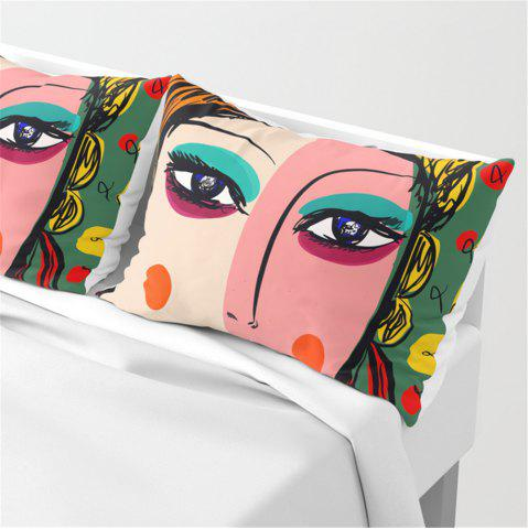 Shop Abstract Painting Bed Pillowcase Sofa Cushion Set