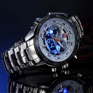 TVG KM-468 3747 Fashionable Leisure Trend Outdoor Sports Night Light Display Steel with Cool Electronic Quartz Watch -