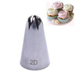 2D Rose Flower Cake Decorating Icing Tips Cupcake Nozzles -