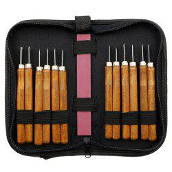 12 Set Wood Carving Tools Kit Handmade for Sculpture Carpenter Beginners Amateur -