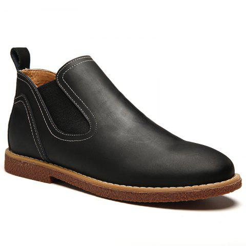 Fashion ZEACAVA Men's High Leather Martin Shoes