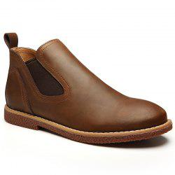 ZEACAVA Men's High Leather Martin Shoes -