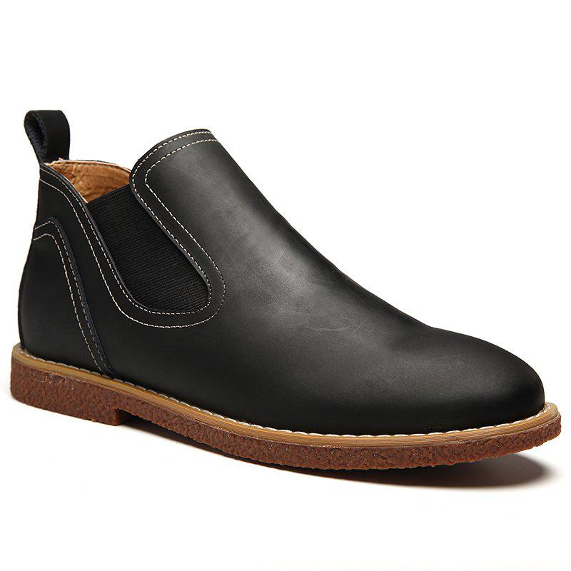 Online ZEACAVA Men's High Leather Martin Shoes