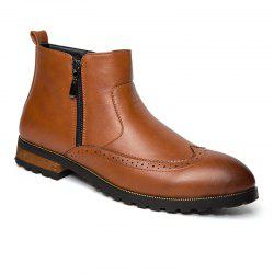 ZEACAVA Men's Fashion Trendy High-Top Leather Shoes -