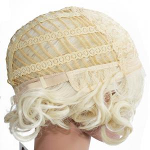 Women Short Wavy Curly Wave Full Hair Wig for Cosplay Party Costume -