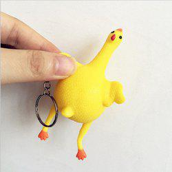 Creative Toys Funny Vent Keychain Chicken Egg Laying Out Vacuum Squeeze Spoof Tricky -