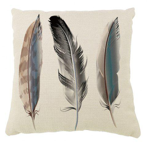 Unique Animal Feather Cotton Pillowcases Decorative Square Car Sofa Cushion Cover
