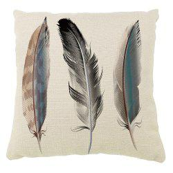 Animal Feather Cotton Pillowcases Decorative Square Car Sofa Cushion Cover -