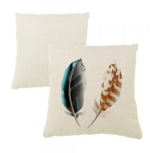 Decorative Pattern of Household Linen Sofa Pillow With Feathers Car Cushion Cover -