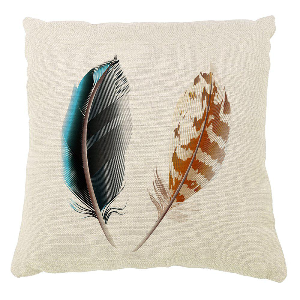 Discount Decorative Pattern of Household Linen Sofa Pillow With Feathers Car Cushion Cover