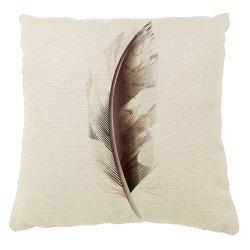 Feathers Decoration Home Abstract Pattern Pillow Cover Cotton Linen -