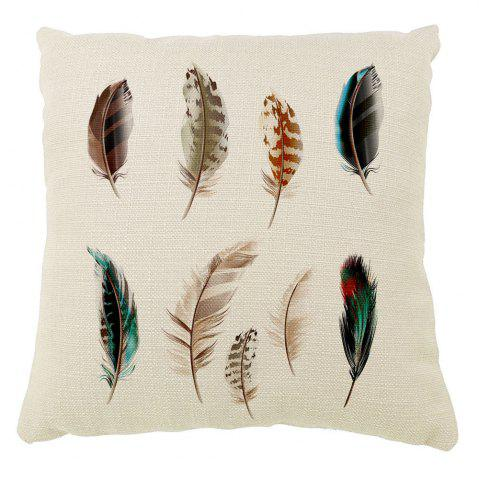 Outfits Decorative Color Feather Pillow Covers Household Car Cushion Printing