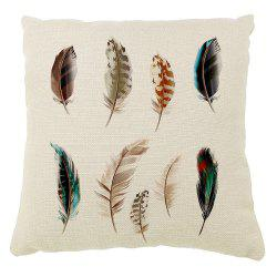 Decorative Color Feather Pillow Covers Household Car Cushion Printing -