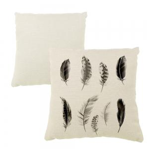 Black Feather Silhouette Like Home Decoration Pillow Sofa Cushion Cover -