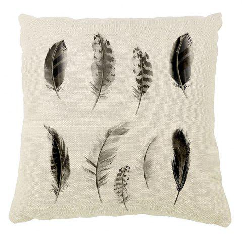 Cheap Black Feather Silhouette Like Home Decoration Pillow Sofa Cushion Cover