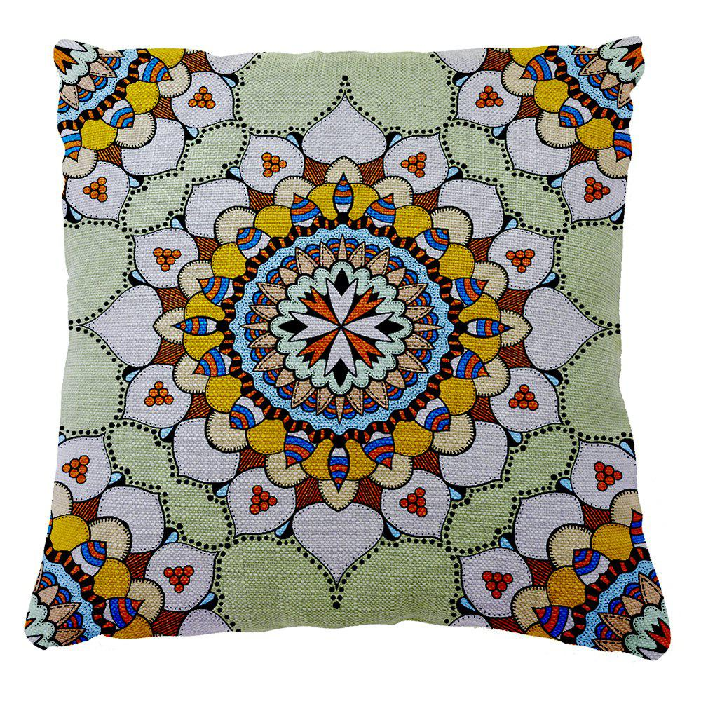 Buy Traditional Pattern of Folk Style Romantic Stamp Shading Car Sofa Cushion Cover Hold Pillowcase