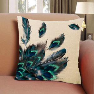 Peacock Feather Pillow Covers Classical Decorative Hand Painted Balcony -
