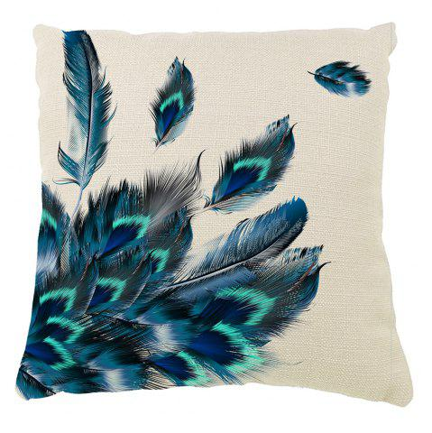 Shops Peacock Feather Pillow Covers Classical Decorative Hand Painted Balcony