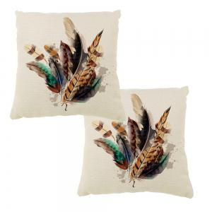 Colorful Decorative Feathers Home Adornment Pillowcase Car Balcony Cushion Cover -