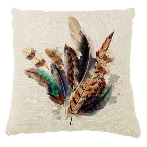 Outfits Colorful Decorative Feathers Home Adornment Pillowcase Car Balcony Cushion Cover