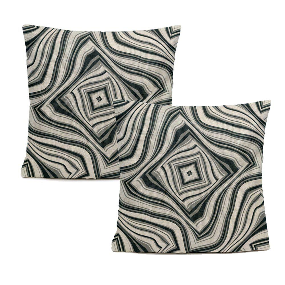 Shops Effect of Stereo Vision Geometric Lines Pillowcase Sofa Cushion Cover Balcony