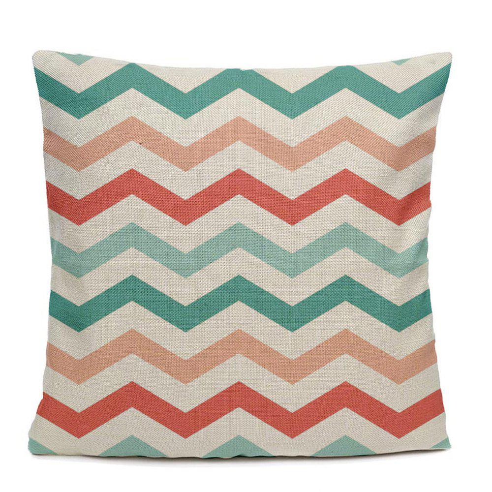 Fancy Color Stripe Simple Geometric Patterns Home Decoration Pillowcase Sofa Cushion Bedroom