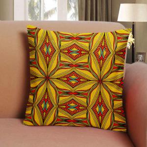 Folk Style Retro Color Decorative Pattern Texture Home Sofa Cushion Cover Bedroom Pillowcase -