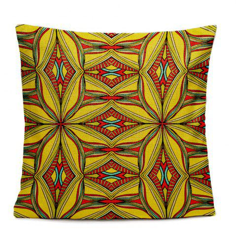 Chic Folk Style Retro Color Decorative Pattern Texture Home Sofa Cushion Cover Bedroom Pillowcase