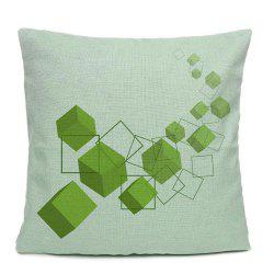 Solid Geometry Square Home Decorative Pillowcase Balcony Sofa Cushion Cover -