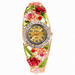 Lvpai P051 Women Flowers Bangle Quartz Watches -