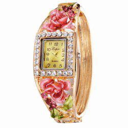 Lvpai P053 Women Unique Flowers Bangle Quartz Watches -